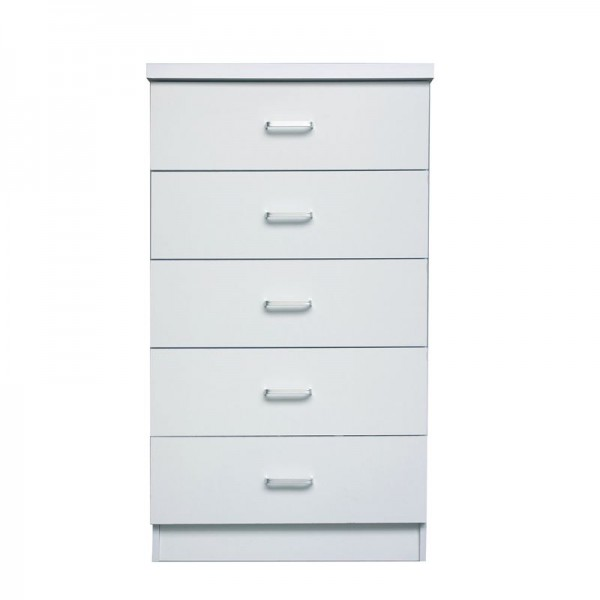 DRAWER Συρταριέρα με 5 Συρτάρια, Απόχρωση Άσπρο-Ε7395,1-MDF - Κόντρα Πλακέ - Καπλαμάς - Νοβοπάν-1τμχ- 60x40x97cm