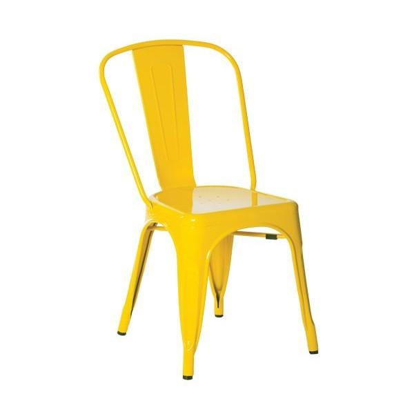 RELIX Καρέκλα Μεταλ.Κίτρινη High